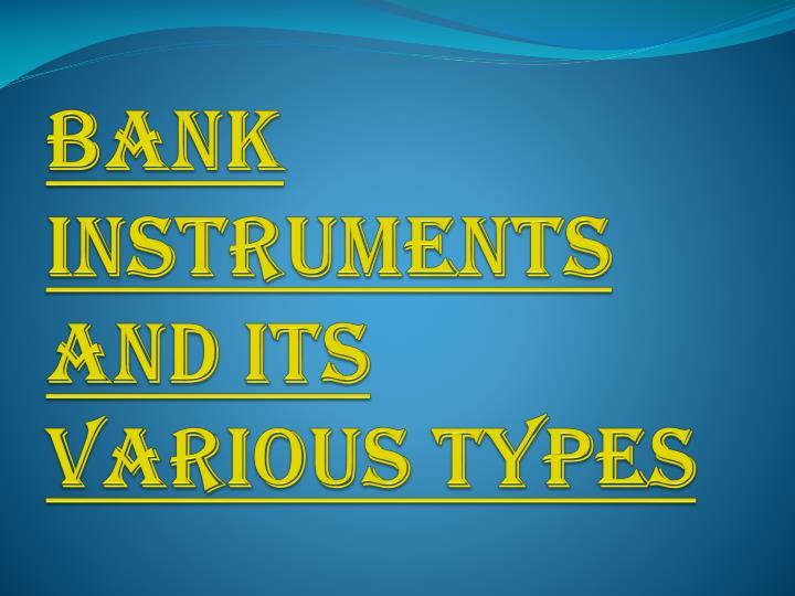 bank-instrument provider