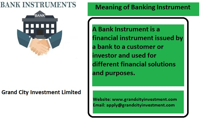 what is Bank instrument, Bank instrument provider, Bank instrument leasing, lease bg/sblc
